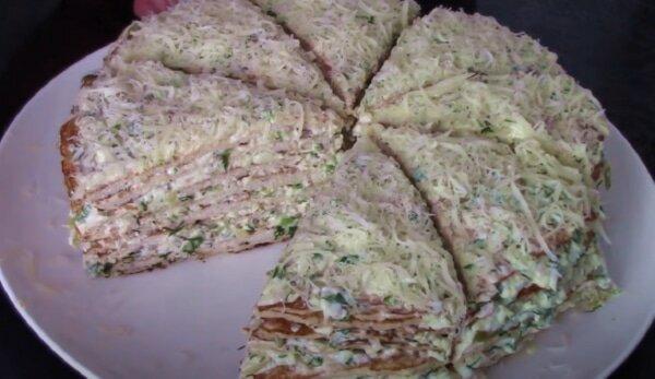 Пикантная закуска для мужчин: мясной торт